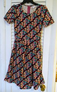4for25$🌺Lularoe multicolored dress ❤️zipper back